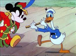 Mickey and Donald are often friends but also often adversaries.