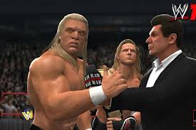 Current stars, like Triple H, are also depicted as their Attitude Era selves.