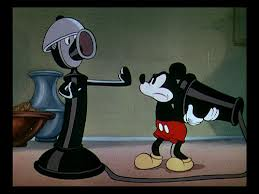 "Mickey Mouse in ""Thru the Mirror."""