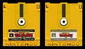 Pretty much everyone is familiar with the gold NES cart, but fewer are aware that in Japan the game was originally released for the Famicom Disk attachment.  This was never released in other parts of the world, which is what necessitated the inclusion of a battery for saving in the American cart.