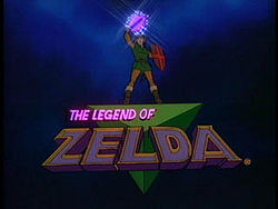 Title screen from the Zelda cartoon (1989).