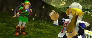 Link and Sheik enjoying a jam session.