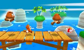 Many of the stages in 3D Land exist in a three-dimensional environment but force Mario to a 2D-like path.