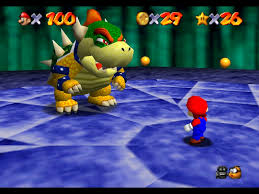 Bowser was very big, though not exactly frightening.