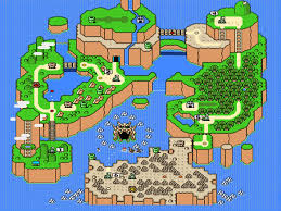 The layout of the world according to Mario.
