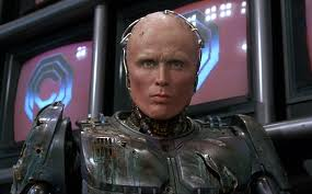 The costume designers and makeup artists did a superb job in turning Weller into RoboCop.