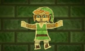 Link's newest ability allows him to become a painting on a wall and move around on it.