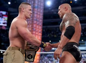 Cena and The Rock ended their three year long feud at the conclusion of WrestleMania XXIX.