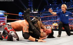 Undertaker earned a rare WrestleMania main event submission victory over Edge.