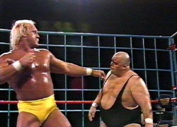 "Hulk Hogan vs King Kon Bundy at WrestleMania 2 has never been confused with a ""classic"" Mania match."