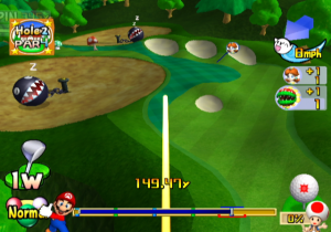 It's not often you have to worry about chain-chomps when getting in a round of 18.
