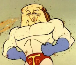 The show created other stars other than just Ren and Stimpy, probably none no bigger than Powdered Toast Man.