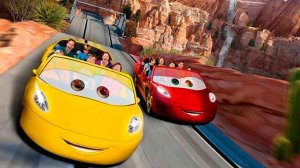 Disneyland's current biggest attraction:  Radiator Springs Racers.