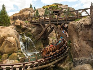 And here's Disney World's newest ride:  The Seven Dwarfs Mine Train.