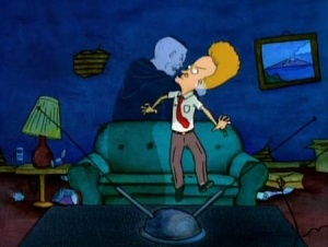 "In ""Huh-Huh-Humbug,"" Beavis just wants to enjoy a porno but various ghost won't let him."