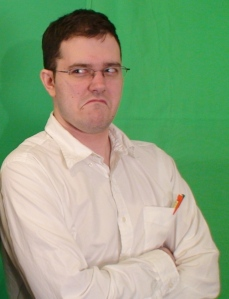 James Rolfe is the Angry Video Game Nerd; a beer-swilling, profanity-spewing, victim of bad games.