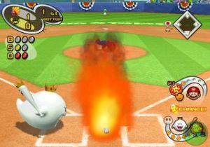 Special abilities, like Mario's fireball pitch, work better against human opponents than CPU ones.