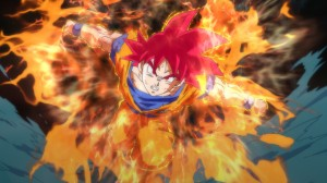 """Goku's """"God"""" form is a bit underwhelming, but at least it's better than Super Saiyan 4."""