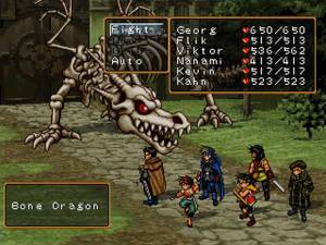 Suikoden II reserves its best character models for its boss encounters.