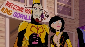 The Monarch is a consistent source of comedy, and despite technically being a villain, is easily one of the stars of the show.