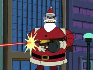 Santa Claus is gunning you down!