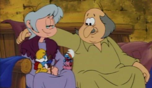 smurfs-tis-the-season-to-be-smurfy-sassette-grandpa-smurf-couple