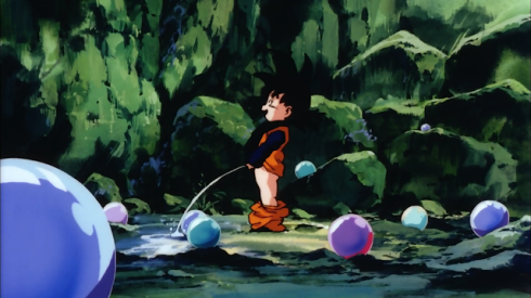 Goten urinating