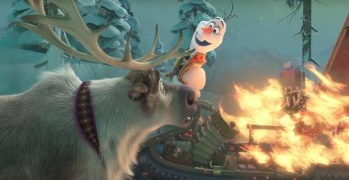 burning sleigh