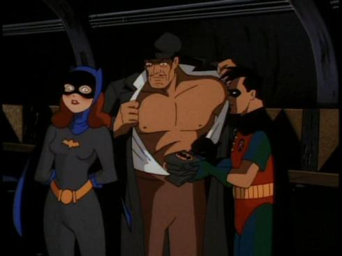 embarrassed batgirl
