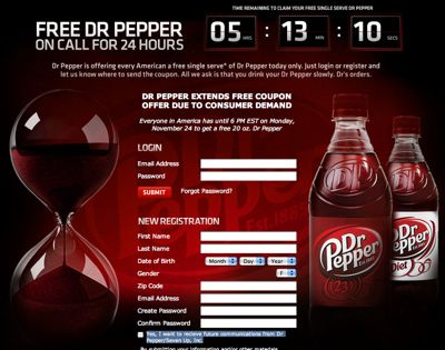 dr pepper promotion
