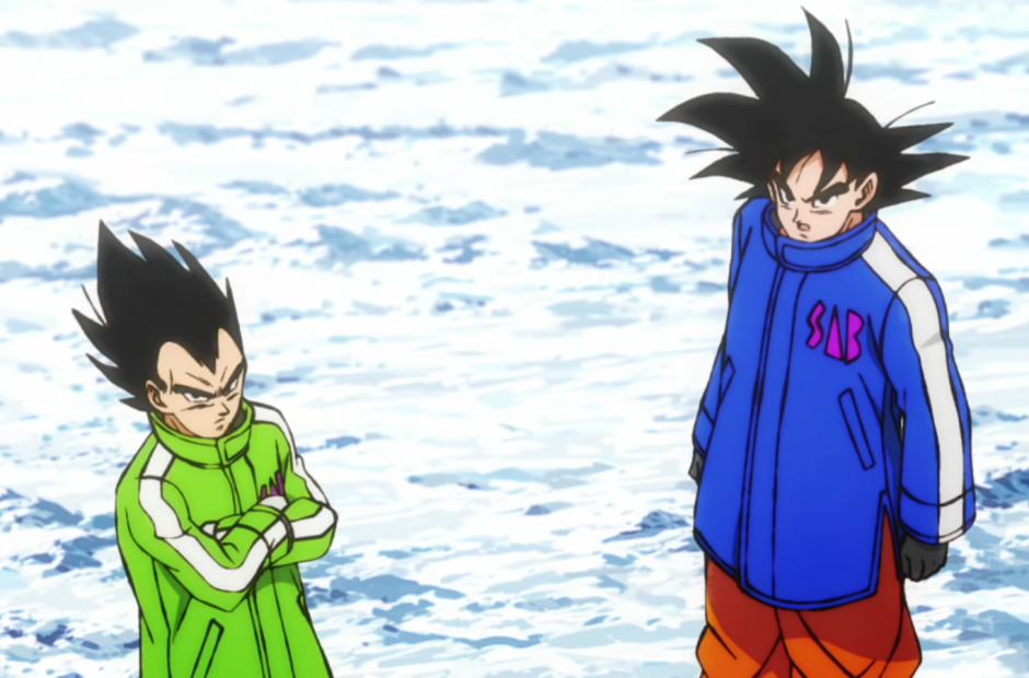 snow clothes goku and vegeta