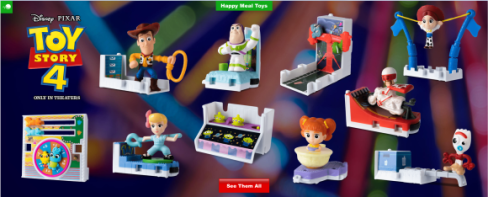 toy story 4 happy meal art
