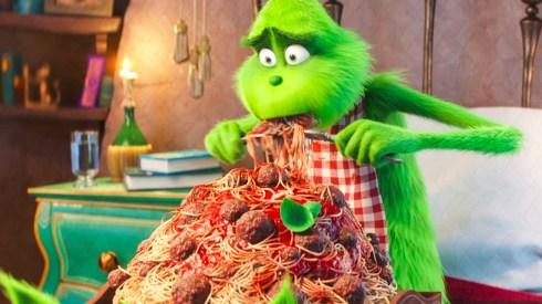 grinch spaghetti