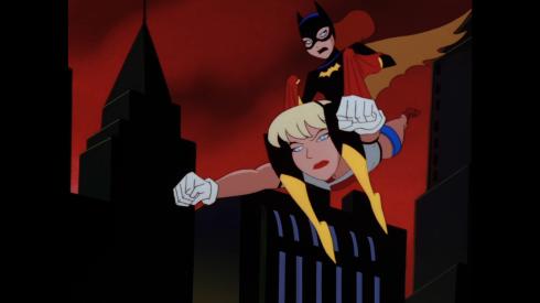 batgirl rides supergirl