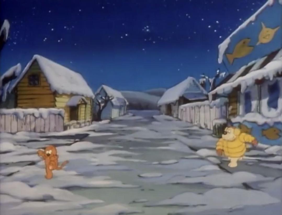 heathcliff snowball fight