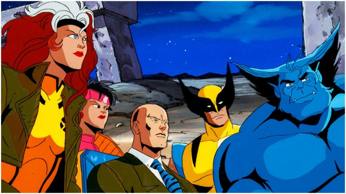 x-men animated group shot